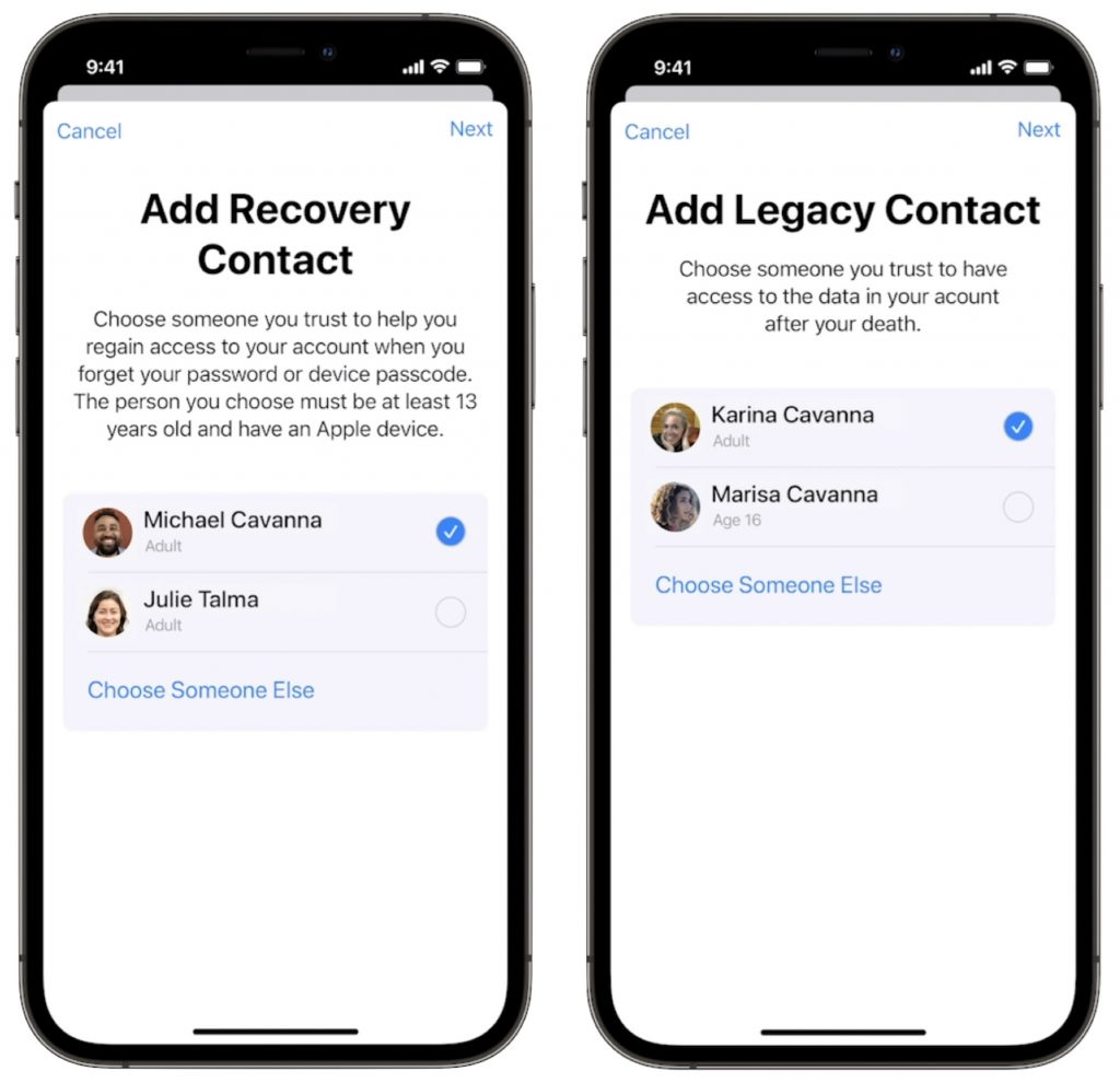 Apple Recovery Contact