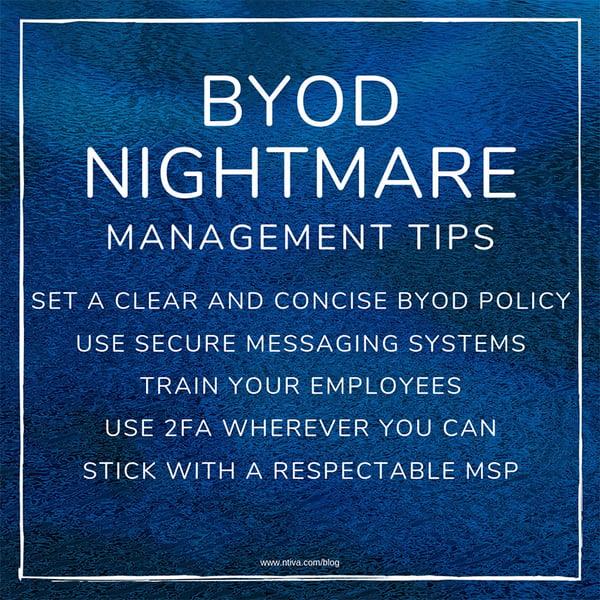 BYOD Nightmare List-1