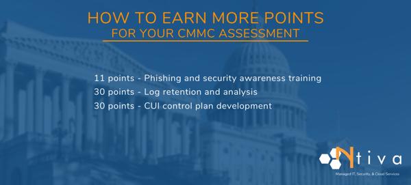 How can I get a higher CMMC score