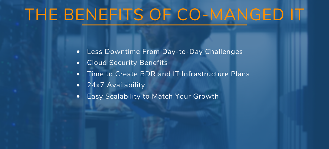 What are the benefits of co-managed IT
