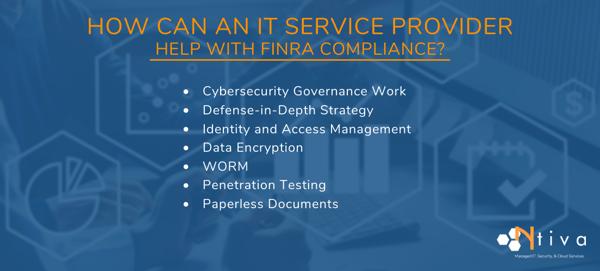 IT Service Provider FINRA Compliance