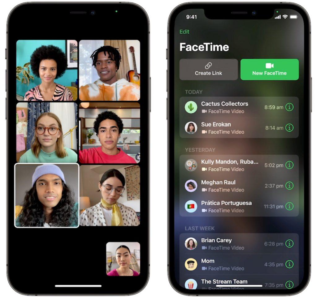 Apple FaceTime Grid