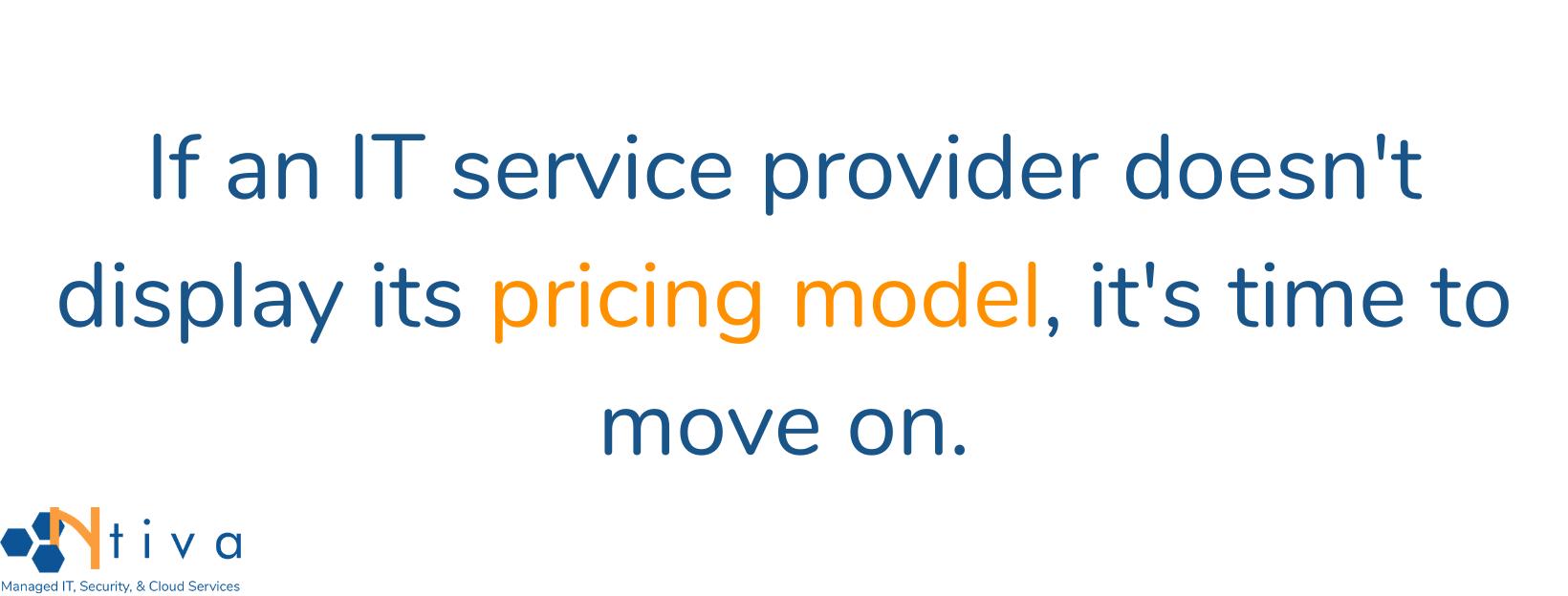 IT Service Provider Pricing