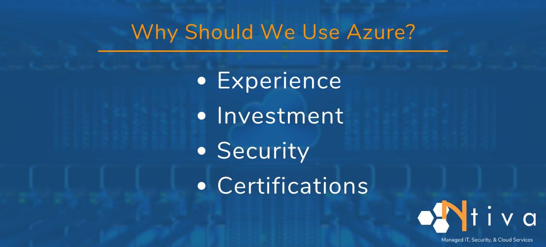 Why Use Microsoft Azure
