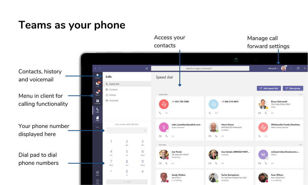 Microsoft Teams as your phone