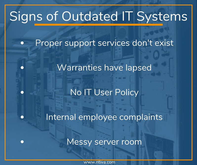 Outdated IT infographic