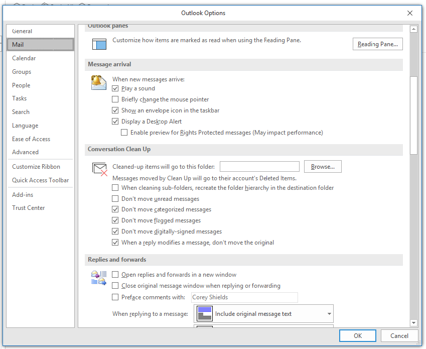 Rules, Subfolders, and Settings to improve Outlook