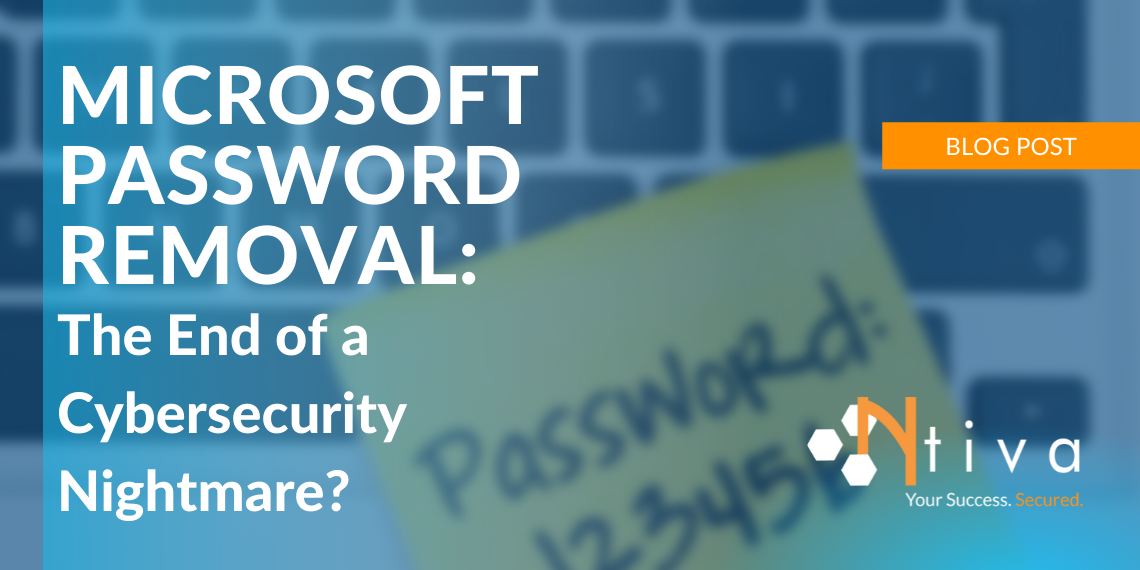 Microsoft Password Removal: The End of a Cybersecurity Nightmare?