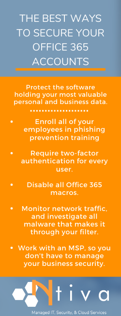 How To Secure Office 365 Infographic