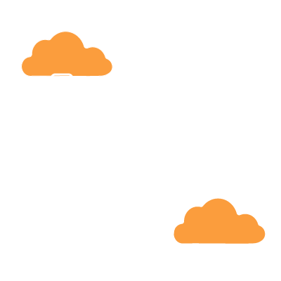Folders going to and from two clouds representing Secure Wifi